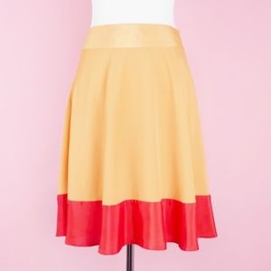 Limited Color Block Flowy Skater Circle Skirt